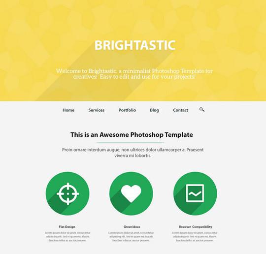 35 Latest & Most Amazing Photoshop Website Templates 20