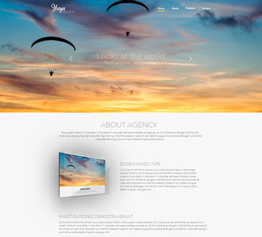 35 Latest & Most Amazing Photoshop Website Templates 8