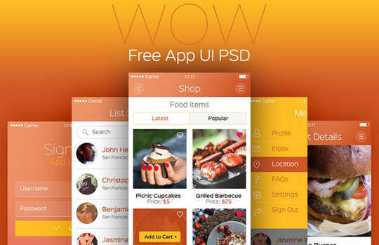 29 Free Photoshop Designs for Mobile App User Interface 12