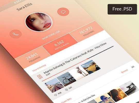 29 Free Photoshop Designs for Mobile App User Interface 15