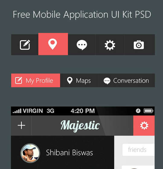 29 Free Photoshop Designs for Mobile App User Interface 17