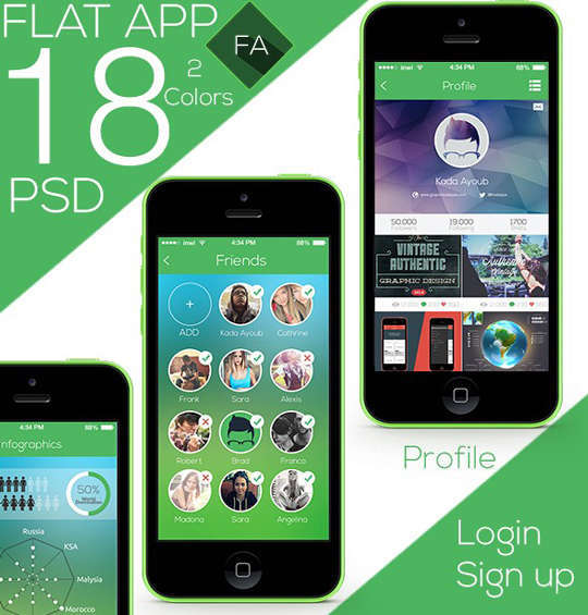 29 Free Photoshop Designs for Mobile App User Interface 20