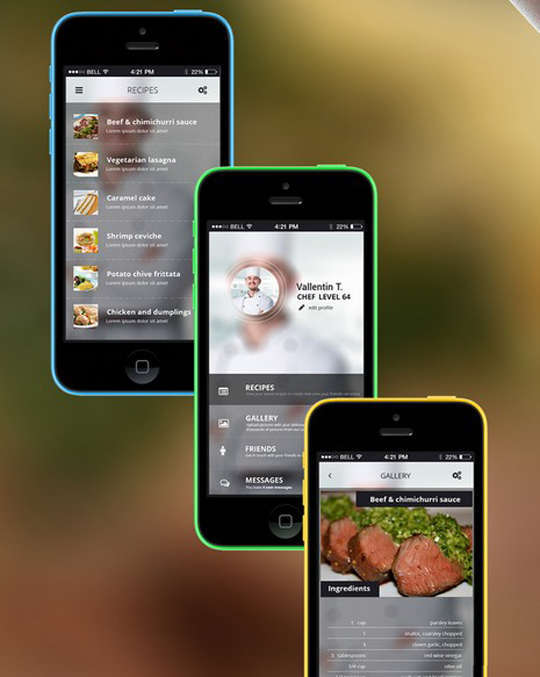 29 Free Photoshop Designs for Mobile App User Interface 3
