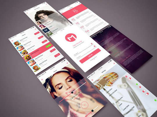 29 Free Photoshop Designs for Mobile App User Interface 24