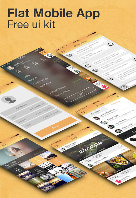 29 Free Photoshop Designs for Mobile App User Interface 26