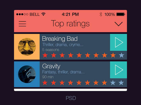 29 Free Photoshop Designs for Mobile App User Interface 29
