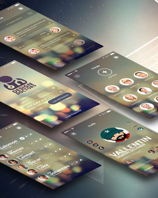 29 Free Photoshop Designs for Mobile App User Interface 5