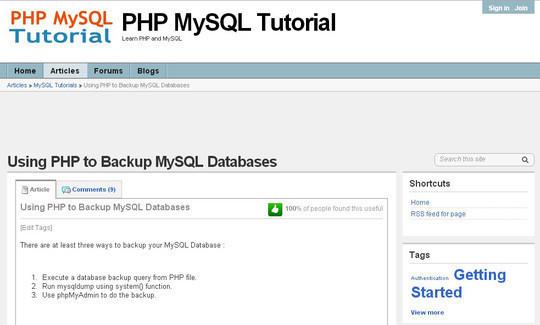10 Tutorials To Take MySQL Database Backup 23
