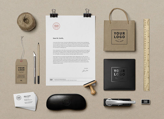 40 Free Corporate Identity & Stationery Mockup Templates 15