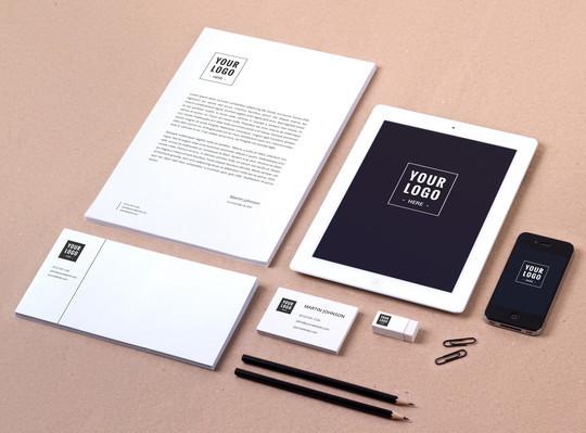 40 Free Corporate Identity & Stationery Mockup Templates 18