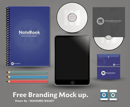 40 Free Corporate Identity & Stationery Mockup Templates 8
