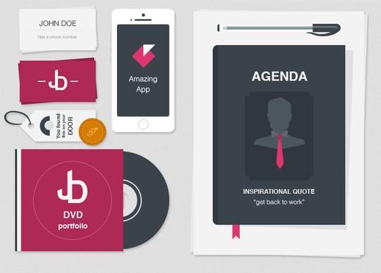 40 Free Corporate Identity & Stationery Mockup Templates 24