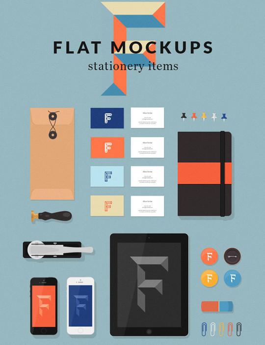 40 Free Corporate Identity & Stationery Mockup Templates 3