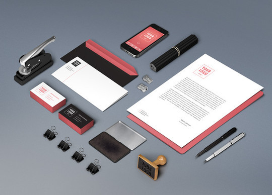 40 Free Corporate Identity & Stationery Mockup Templates 7
