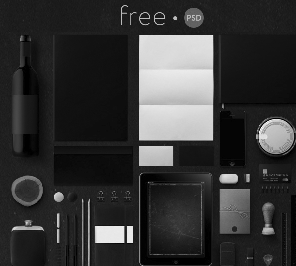 40 Free Corporate Identity & Stationery Mockup Templates 2
