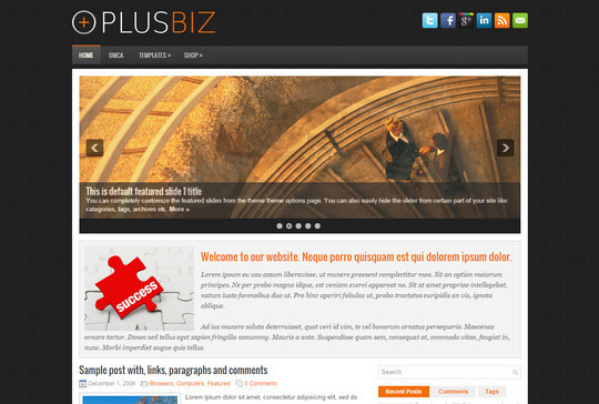 13 Free & Fresh WordPress Themes 4