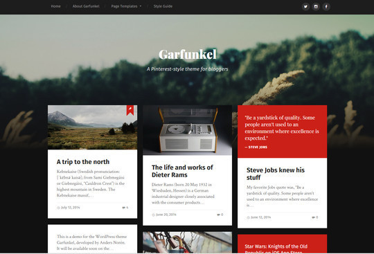 13 Free & Fresh WordPress Themes 12