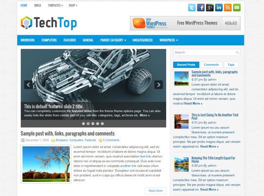 13 Free & Fresh WordPress Themes 6