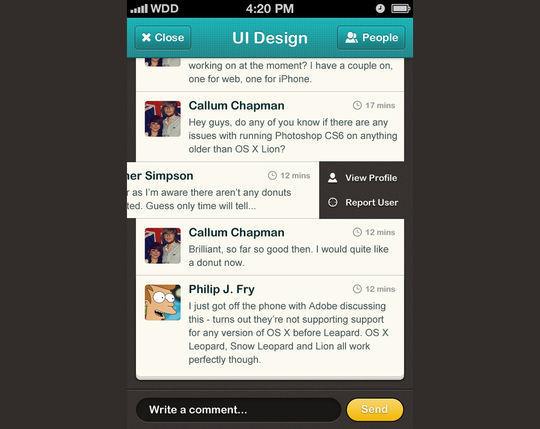 36 Photoshop Tutorials For iPhone App UI Design 31