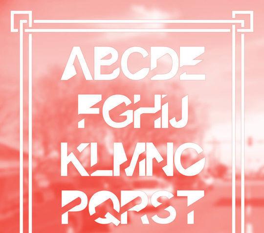 15 Free Minimalistic Designs Fonts 7