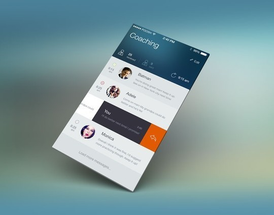 11 Examples Of iOS 7 Mobile App Interface Designs 4