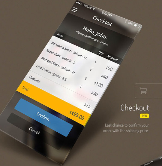 11 Examples Of iOS 7 Mobile App Interface Designs 5