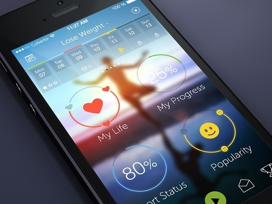 11 Examples Of iOS 7 Mobile App Interface Designs 6