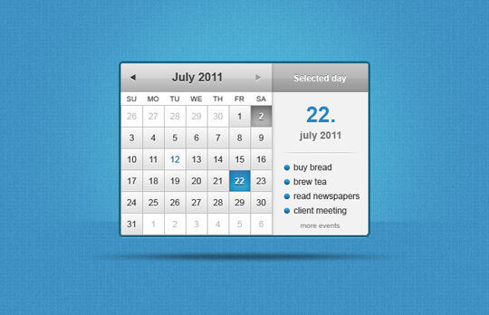 13 High Quality PSD Calendars 12