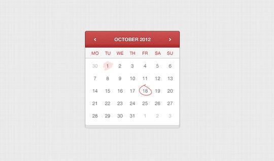 13 High Quality PSD Calendars 13