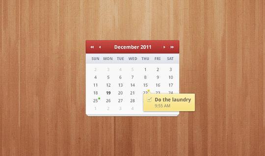 13 High Quality PSD Calendars 14