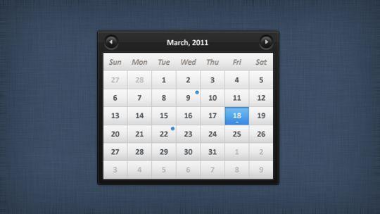 13 High Quality PSD Calendars 5