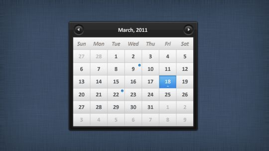 13 High Quality PSD Calendars 97