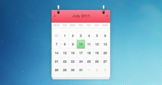 13 High Quality PSD Calendars 6