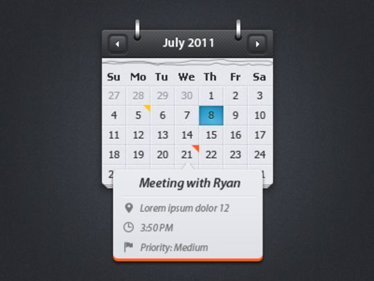 13 High Quality PSD Calendars 3