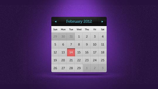 13 High Quality PSD Calendars 2