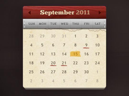13 High Quality PSD Calendars 8