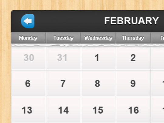 13 High Quality PSD Calendars 9