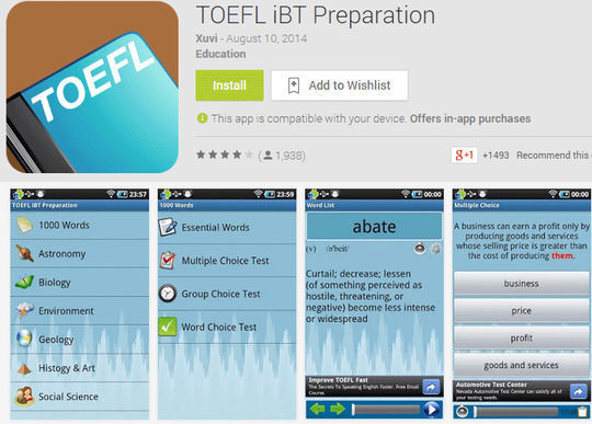 10 Free IELTS & GRE Preparation Android Apps 5