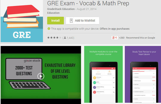 10 Free IELTS & GRE Preparation Android Apps 6