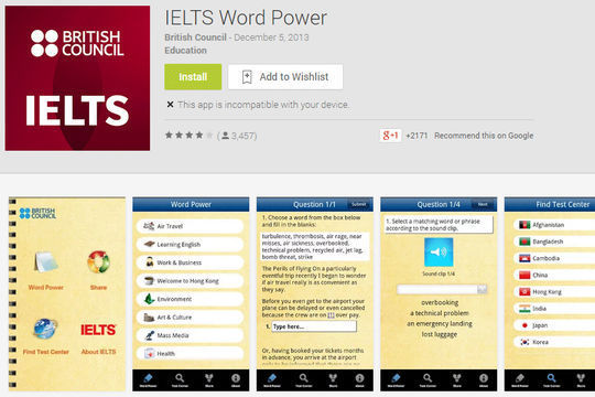 10 Free IELTS & GRE Preparation Android Apps 8