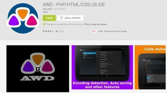 10 Free Code Editors For Android 6