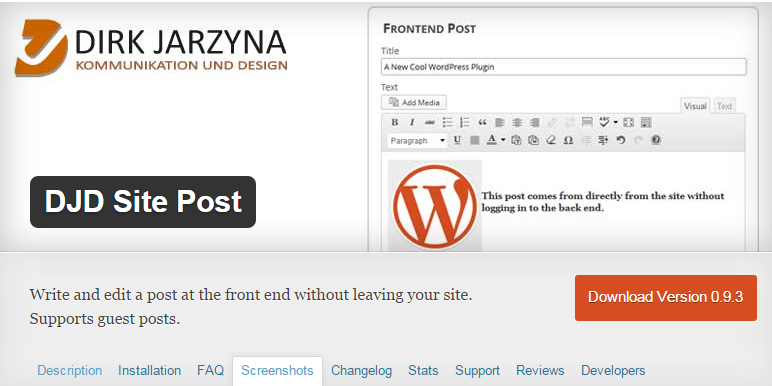 11 Useful WordPress Plugins For Front-End Content Management 11