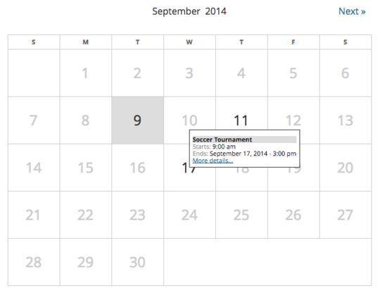 10 Wordpress Calendar Plugins 3