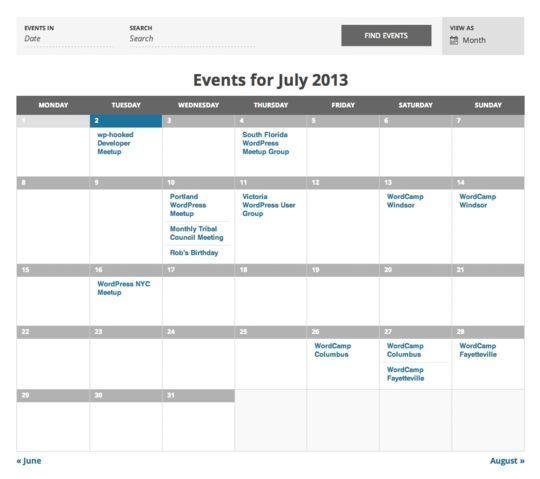 10 Wordpress Calendar Plugins 7