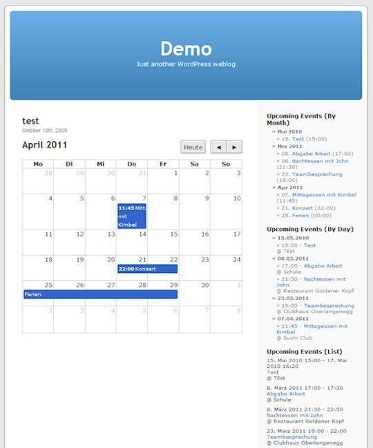 10 Wordpress Calendar Plugins 8