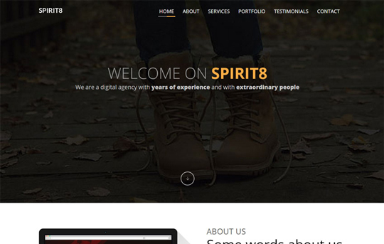 12 Fresh Free Templates In HTML/CSS & PSD 4