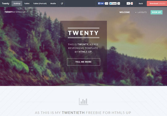 12 Fresh Free Templates In HTML/CSS & PSD 8