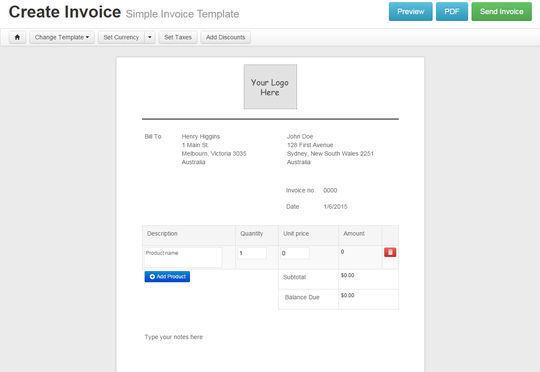 12 Best Free Invoice Generators 3
