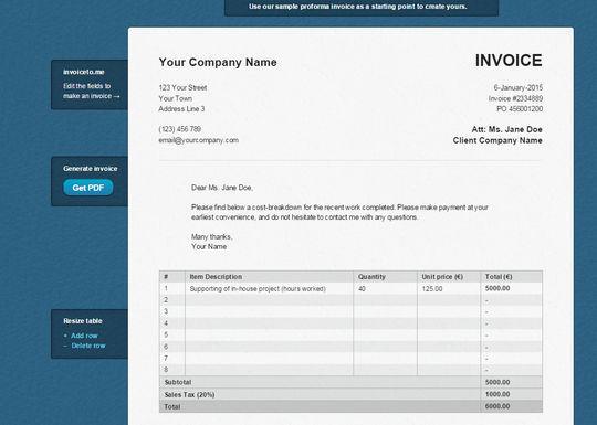 12 Best Free Invoice Generators 8
