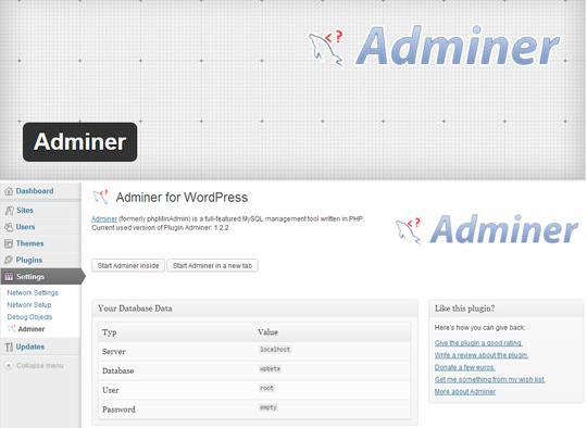 10 Admin Plugins for Wordpress 4